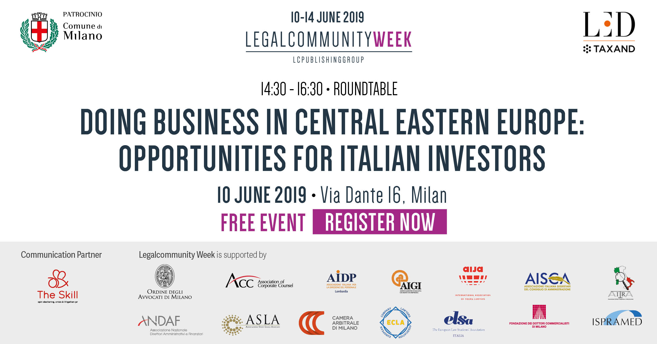 "Roundtable ""Doing business in Central Eastern Europe: opportunities for Italian investors"""