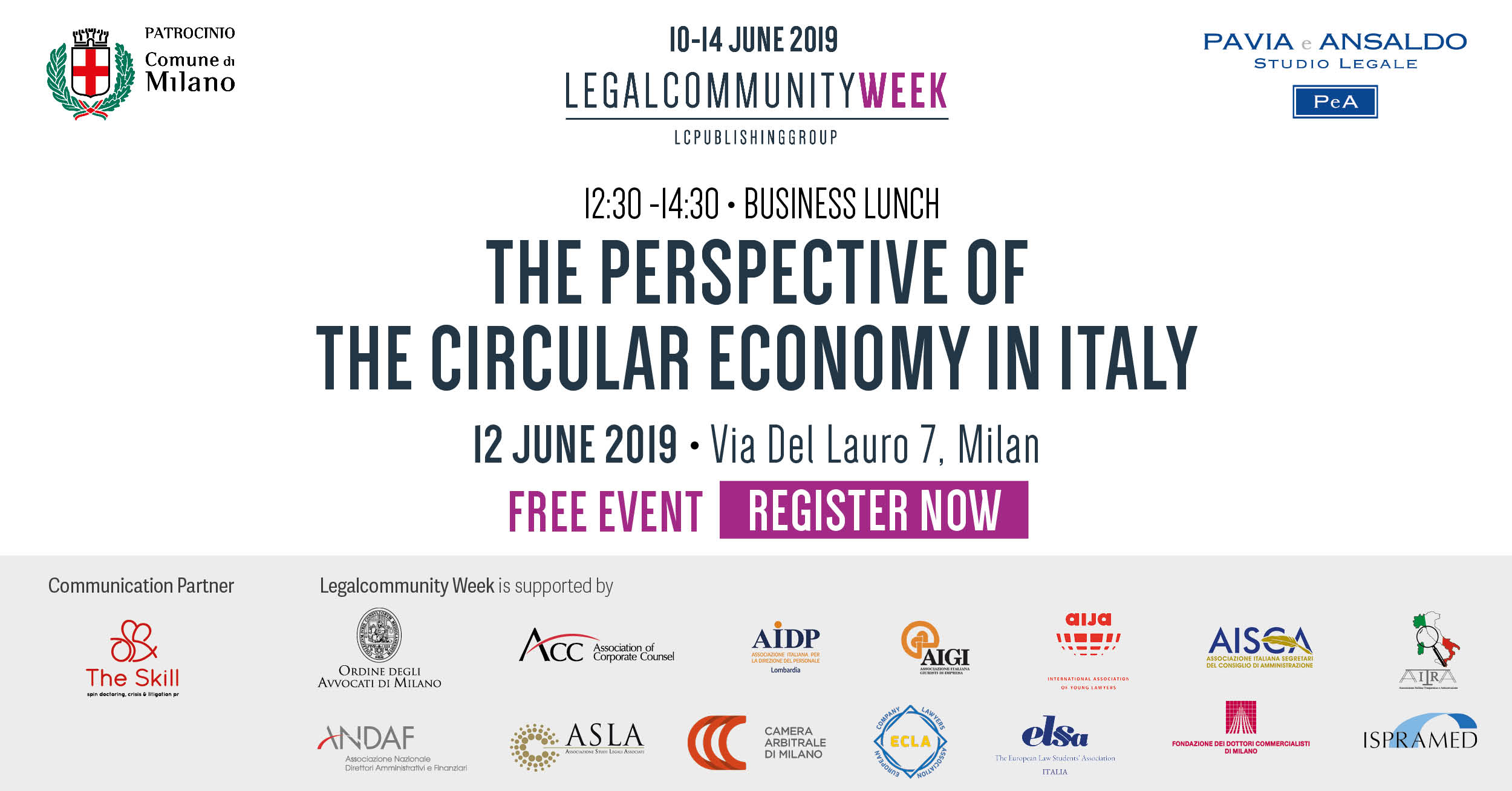 "Business lunch: ""The perspective of the circular economy in Italy"""