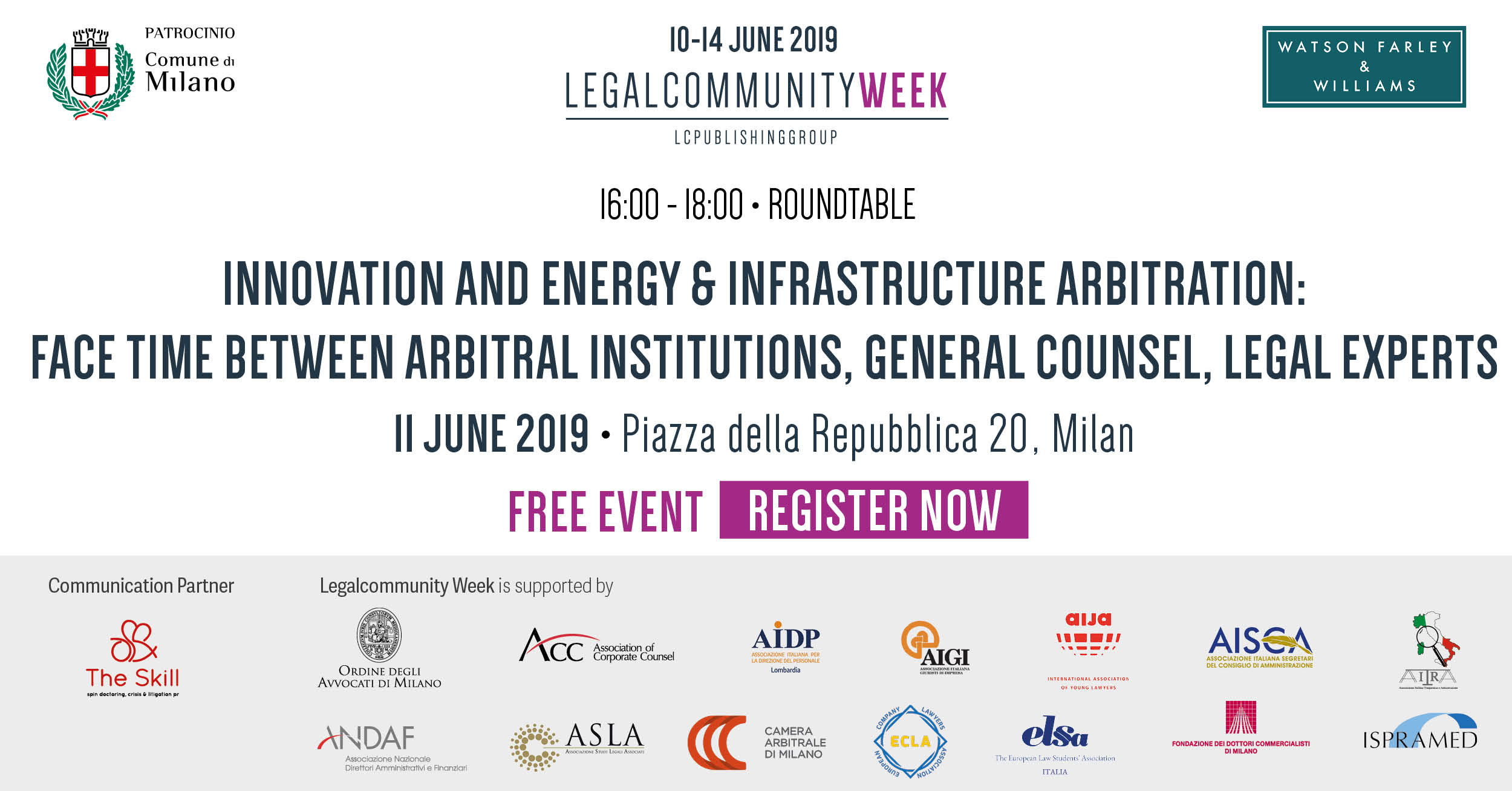 "Roundtable: ""Innovation and energy & infrastructure arbitration: face time between arbitral institutions, general counsel, legal experts"""
