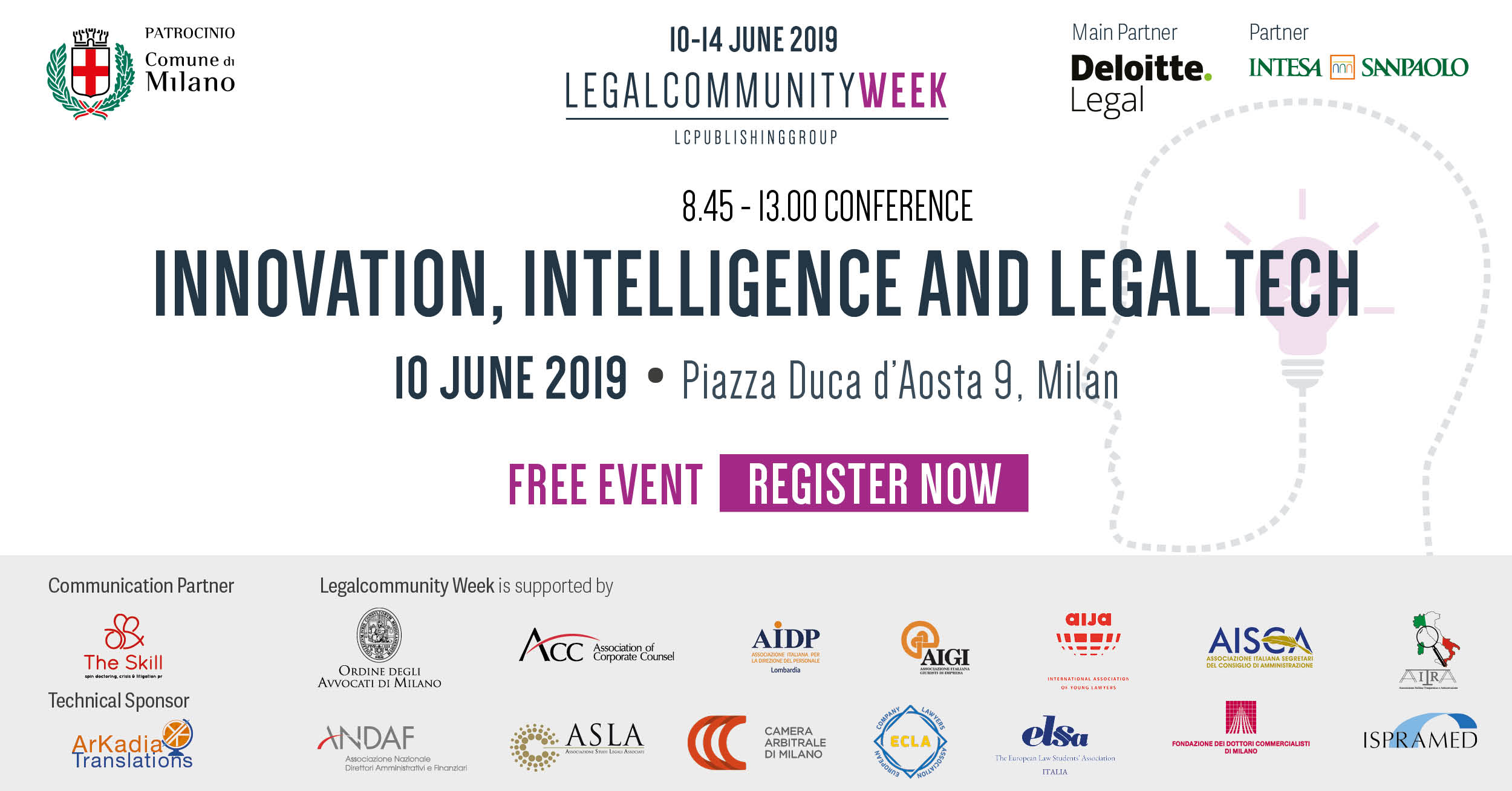 """Conference: """"Innovation, intelligence and legal tech"""""""